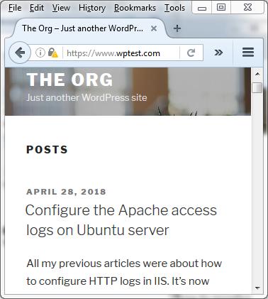 Configure Apache access logs on Ubuntu server