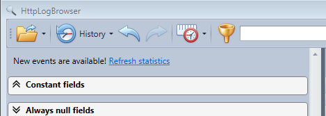 Refresh statistics in the HttpLogBrowser after new events have been displayed by the real time mode