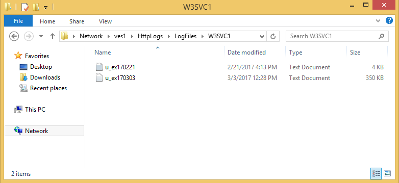 Access IIS HTTP logs remotely through a share